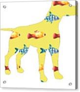 Fishy Dog Acrylic Print