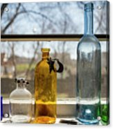 Five Colored Bottles Acrylic Print