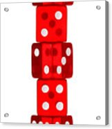 Five Dice Stack Acrylic Print by Richard Thomas