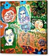 Five Girls Acrylic Print