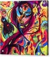 Raven Masquerade Acrylic Print