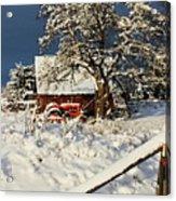 Five Mile Winter's Barn #9862 Acrylic Print