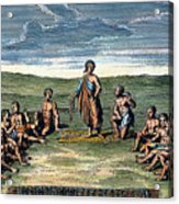 Five Nations: Meeting, C1570 Acrylic Print by Granger