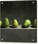 Five Pears Acrylic Print