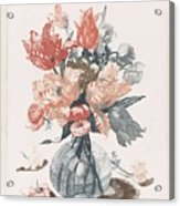 Five Prints With Flowers In Glass Vases, Anonymous, After Jean Baptiste Monnoyer, 1688 - 1698 Acrylic Print