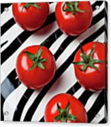 Five Tomatoes  Acrylic Print by Garry Gay