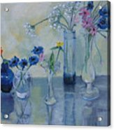 Five Vases Acrylic Print
