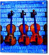Five Violins Acrylic Print
