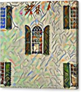 Five Windows Watercolor Acrylic Print