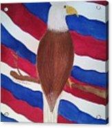 Flag And Eagle Acrylic Print