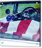 Flag In The  1955 Chevy Bel Air Acrylic Print