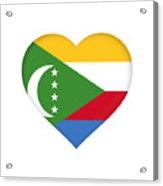 Flag Of  Comoros Heart Acrylic Print