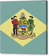Flag Of Delaware Acrylic Print