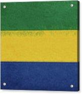 Flag Of Gabon Grunge. Acrylic Print