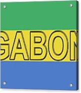 Flag Of Gabon Word. Acrylic Print