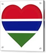 Flag Of Gambia Heart Acrylic Print