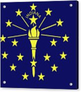 Flag Of Indiana Acrylic Print