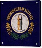 Flag Of Kentucky Grunge Acrylic Print