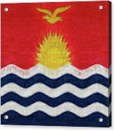 Flag Of Kiribati Texture Acrylic Print