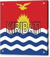 Flag Of Kiribati Word Acrylic Print