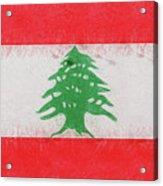 Flag Of Lebanon Grunge Acrylic Print