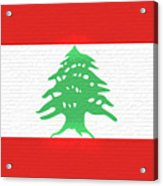 Flag Of Lebanon Wall Acrylic Print