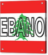Flag Of Lebanon Word Acrylic Print