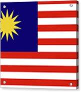 Flag Of Malaysia. Acrylic Print