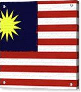 Flag Of Malaysia Wall. Acrylic Print