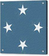 Flag Of Micronesia Wall Acrylic Print