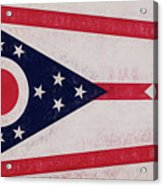 Flag Of Ohio Grunge Acrylic Print