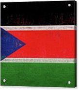 Flag Of  South Sudan Grunge Acrylic Print
