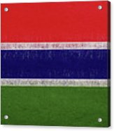 Flag Of The Gambia Grunge. Acrylic Print