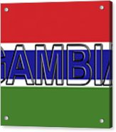 Flag Of The Gambia Word. Acrylic Print
