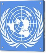 Flag Of The United Nations Acrylic Print