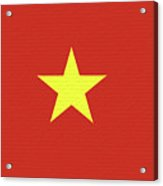 Flag Of Vietnam Wall Acrylic Print