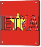 Flag Of Vietnam Word Acrylic Print