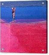 Flag Reflection In Water 1 Casa Grande Arizona 2005 Acrylic Print
