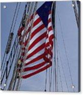 Flag Tall Ship Acrylic Print