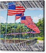 Flag Walk 2 Acrylic Print
