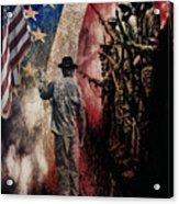 Flag Acrylic Print by Wayne Gill