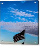 Flag With The Clouds Acrylic Print