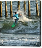 Flagler Beach Surf Day Acrylic Print