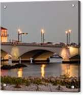 Flagler Bridge In Lights Iv Acrylic Print