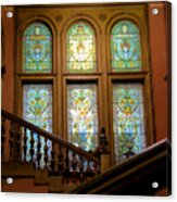 Flagler College Stained Glass Acrylic Print