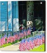 Flags Along The Walkway Acrylic Print