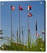 Flags Flags Flags Acrylic Print