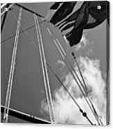 Flags In The Wind Acrylic Print