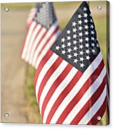 Flags Line Up Acrylic Print