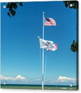 Flags On The Shoreline Acrylic Print